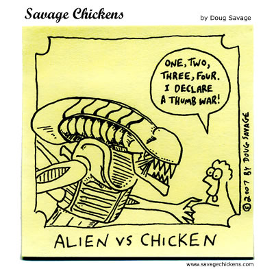 Savage Chickens - Alien