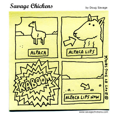 Savage Chickens - Alpaca