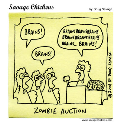 Savage Chickens - The Bidding Dead