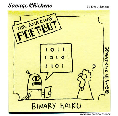 Savage Chickens - The Amazing Poet-Bot