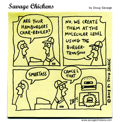 Savage Chickens - Faster Food