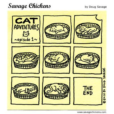 savage chickens cats