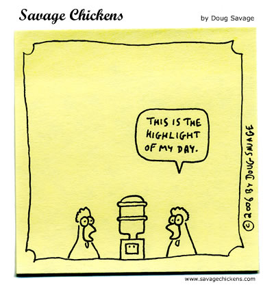 Savage Chickens - Water Cooler
