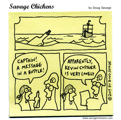 Savage Chickens - Message In A Bottle