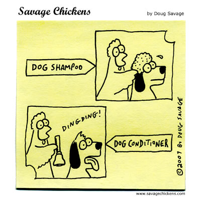 Savage Chickens - Dog Grooming