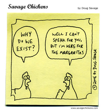 Existence Cartoon | Savage Chickens - Cartoons on Sticky Notes by ...