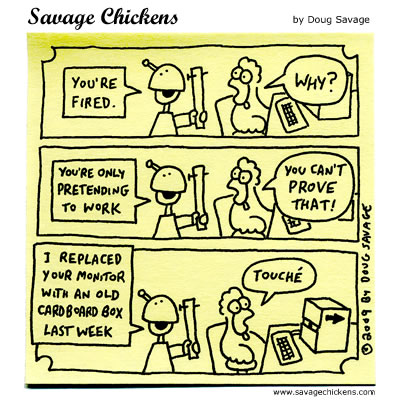Savage Chickens - Pretending to Work