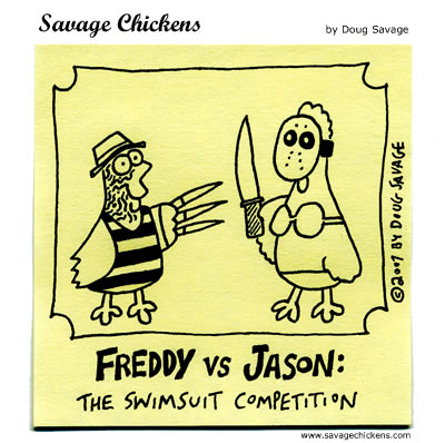 Savage Chickens - Freddy vs Jason