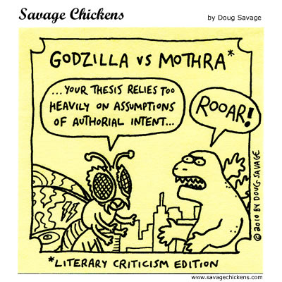Savage Chickens - Godzilla vs Mothra