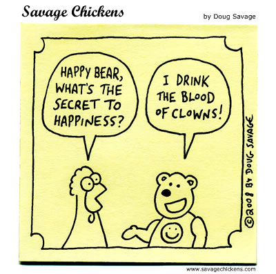 Savage Chickens - Happiness