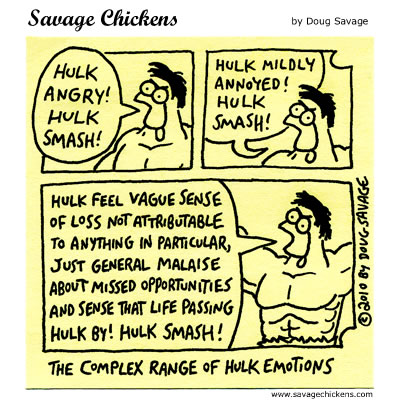 Savage Chickens - Hulk