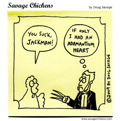 Savage Chickens - Hugh Jackman