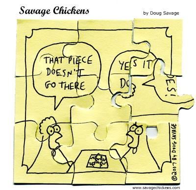 Savage Chickens - Jigsaw