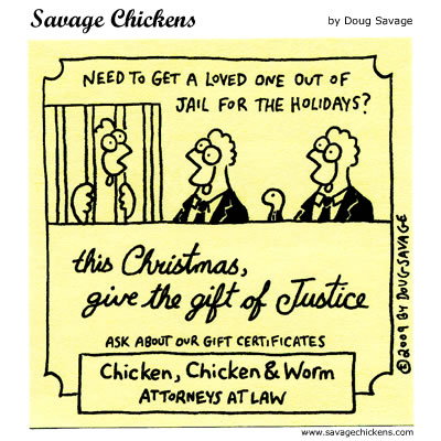 Savage Chickens - Justice