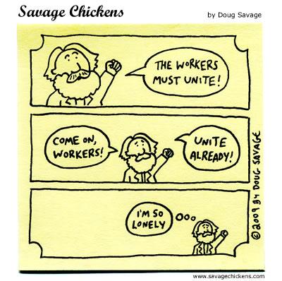Savage Chickens - Karl Marx