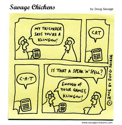 Savage Chickens - Klingon