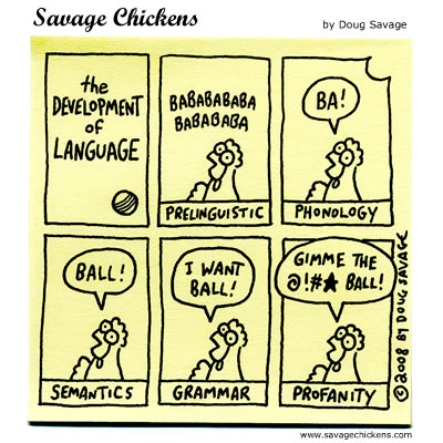 Savage Chickens - The Development of Language