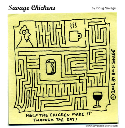 Savage Chickens - The Maze