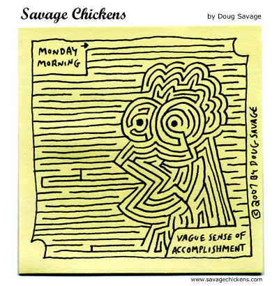 Savage Chickens - Monday Maze