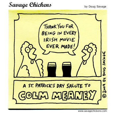 st patrick s day salute cartoon savage chickens cartoons on