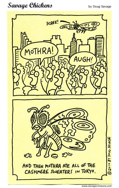 Savage Chickens - Mothra