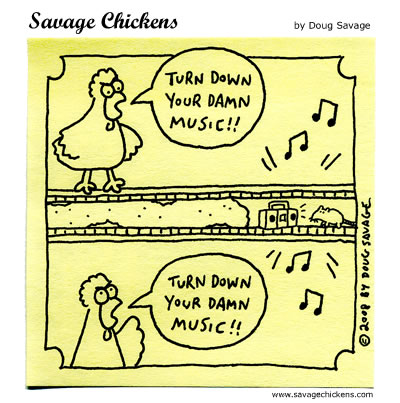 Savage Chickens - Neighbours