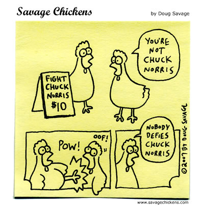 Savage Chickens - Chuck Norris