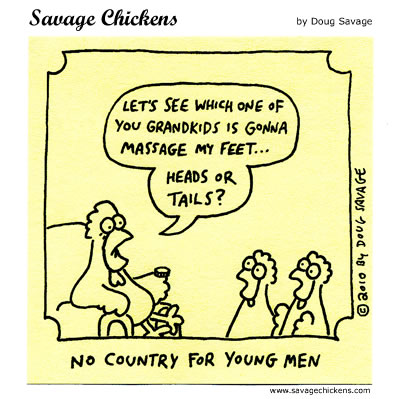Savage Chickens - Heads or Tails?