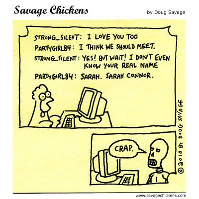 Savage Chickens - Online Love