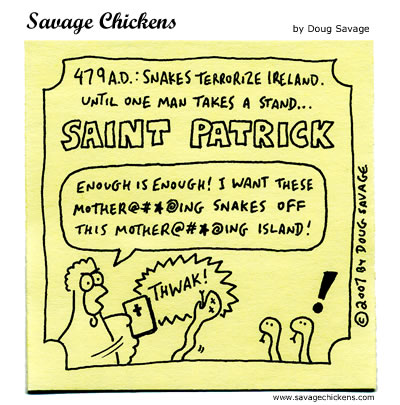 Savage Chickens - Saint Patrick