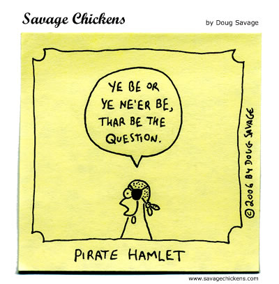 Talk Like A Pirate 2006 Cartoon | Savage Chickens - Cartoons on ...