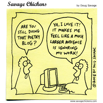 Blogging, cartoon