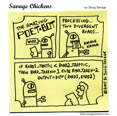Savage Chickens - Poet-Bot