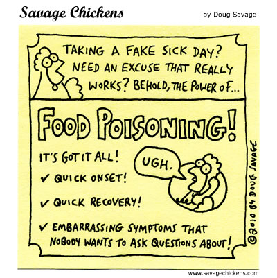 Food Poisoning Cartoon Savage Chickens Cartoons On Sticky Notes