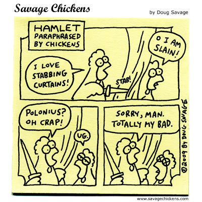 Savage Chickens - Polonius
