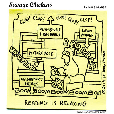 Savage Chickens - A Little Quiet Time