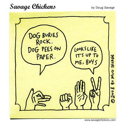 Savage Chickens - Rock Paper Scissors