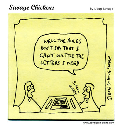Savage Chickens - Scrabble