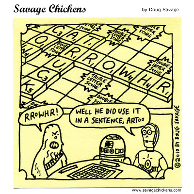 Savage Chickens - Scrabble Wars