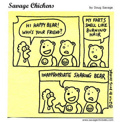 Savage Chickens - Sharing