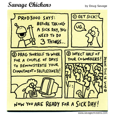 Savage Chickens - Sick Day