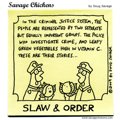 Savage Chickens - Cabbages of Justice