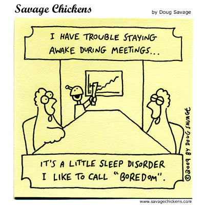 Savage Chickens - Sleep Disorder