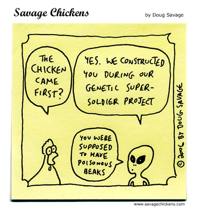 Savage Chickens - Chicken or Egg?