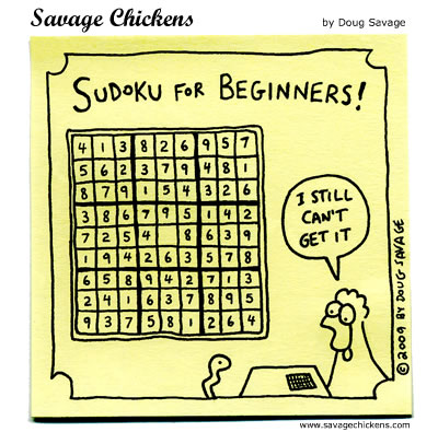 Savage Chickens - Sudoku