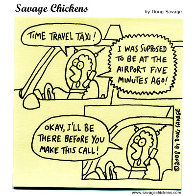 Savage Chickens - Time Travel Taxi