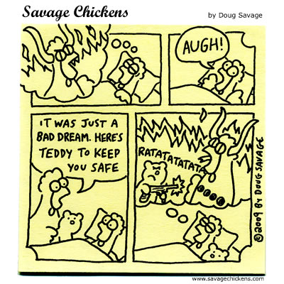 Savage Chickens - Teddy Bear