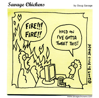 Savage Chickens - Fire!