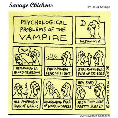 Savage Chickens - Vampire Problems