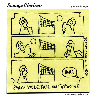 Savage Chickens - Volleyball